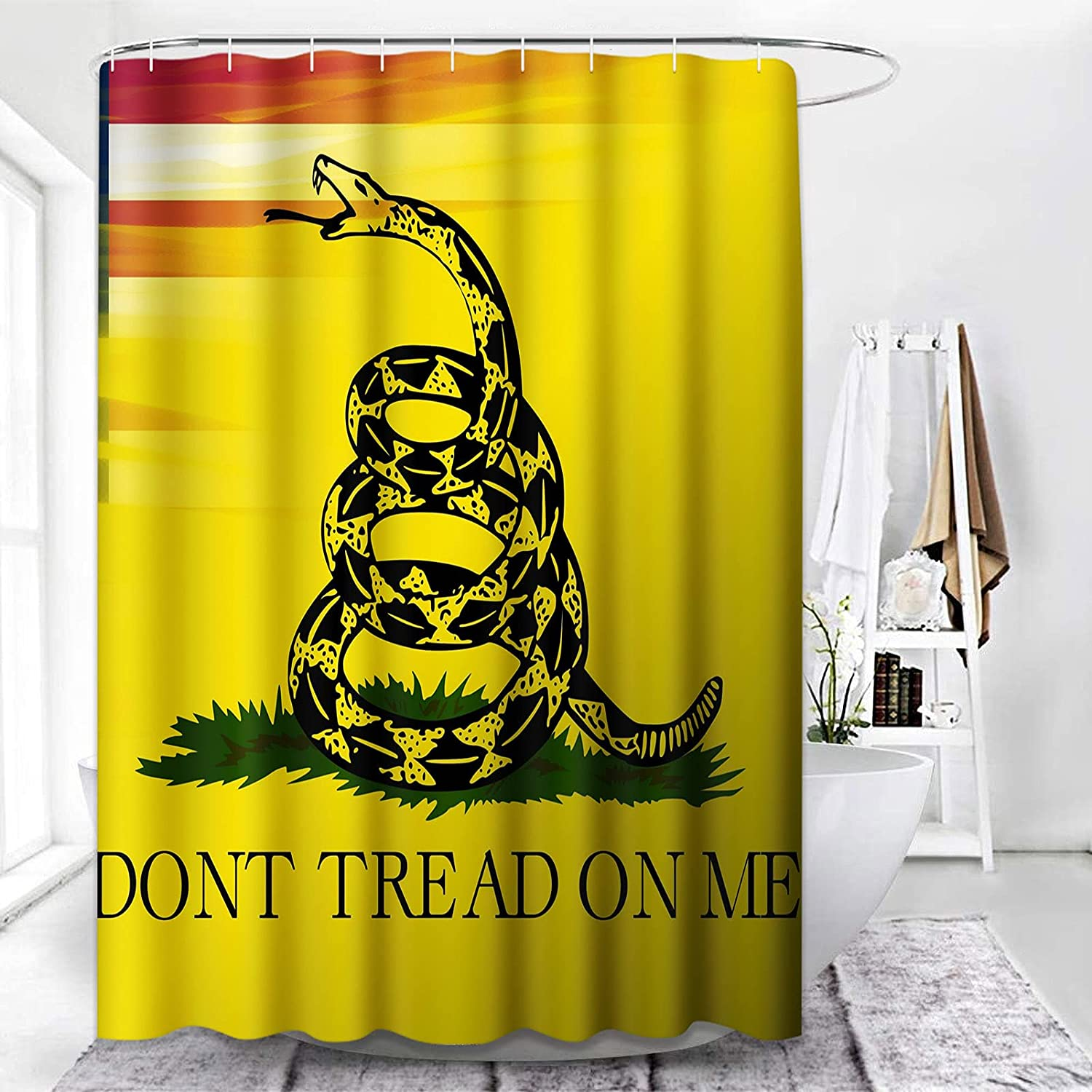 ArtSocket Shower Curtain Dont Lowest price challenge Tread Max 50% OFF Me On Authentic Snake Scale