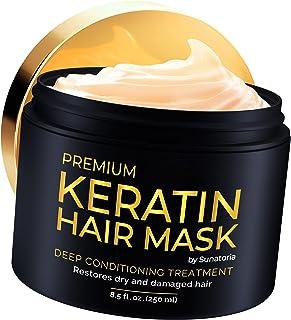 2021 Premium Keratina Hair Mask - Tratamiento profesional para reparación del cabello, nutrición y belleza - Mascarilla para el cabello - Complejo vitamínico para todo tipo de cabello - con Omega 3, 9, vitamina E - Máscara nutritiva de proteínas