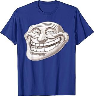 7facc3b7 MEME TROLL FACE funny present NEW xmas birthday gift idea boys girls top T SHIRT  T-Shirts ...