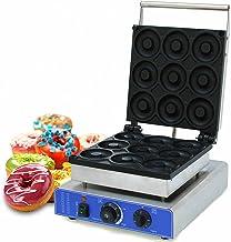 Machine à Donuts Électrique En Acier Inoxydable 1800W Machine à Beignets Professionnelle Antiadhésif 220V Donut Baker pour...