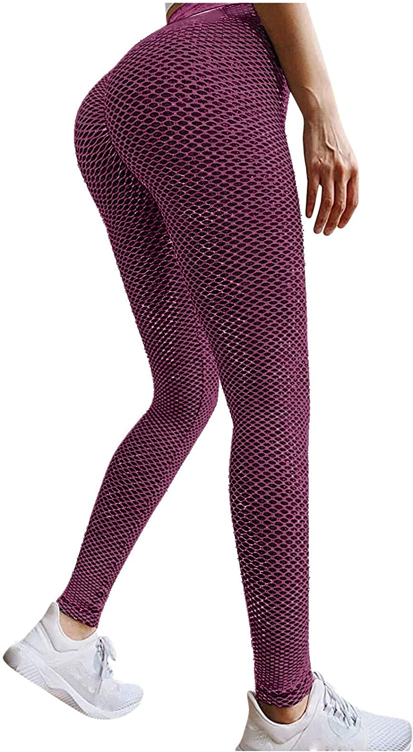 Hotkey Leggings for Women, High Waisted Tummy Control Yoga Pants Casual Running Active Pants Gym Sports Sweatpants
