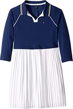 Pleated Polo Dress (Big Kids)