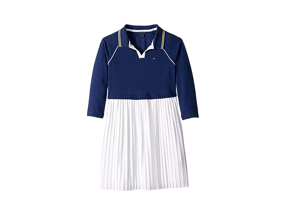 Tommy Hilfiger Kids Pleated Polo Dress (Big Kids) (Flag Blue) Girl