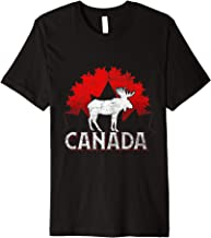 Canadian Moose Maple Leaf Animal Canada Premium T-Shirt