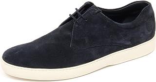 D2312 Sneaker uomo TOD'S Derby Casual Scarpa BLU Shoe Man