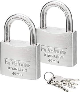 Stainless Steel Pin Tumbler Padlock, 304 Marine Series, Anti Rust Lock, Weatherproof Padlock for Outdoor use, 1-1/2 inch W...