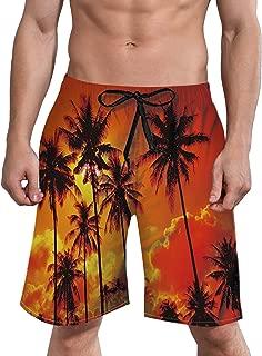 Mens 3D Swim Trunks Quick Dry Summer Underwear Surf Beach Shorts Elastic Waist with Pocket Drawstring