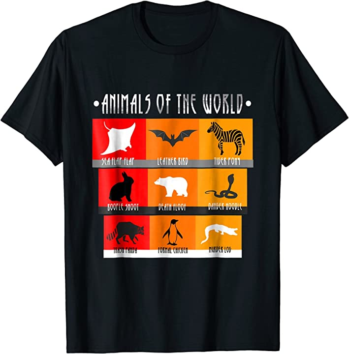 'Animals Of The World' Funny Penguin Animals Shirt