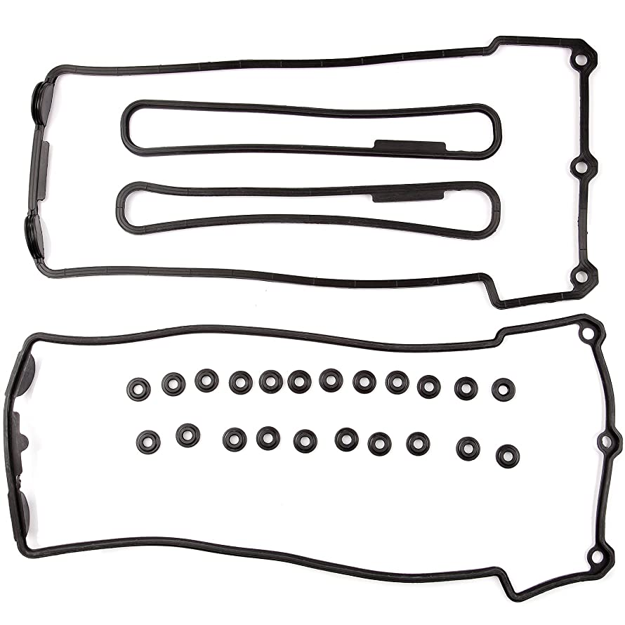 cciyu Valve Cover Gasket Set Replacement fit for 1993-1998 BMW 530i 540i 740i 740iL 840Ci 4.4L 4.0L V8 DOHC Valve Covers Left Right with Grommets