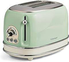 Ariete 155, Design-Toaster für 2 Scheiben, mit Zangen, 6 Toaststufen, 810 W, Gehäuse aus Edelstahl, herausnehmbare Krümelschublade, Pastellblau