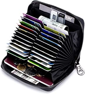 Genuine Leather Credit Card Holder Case RFID Card Wallet Travel Passport Wallet
