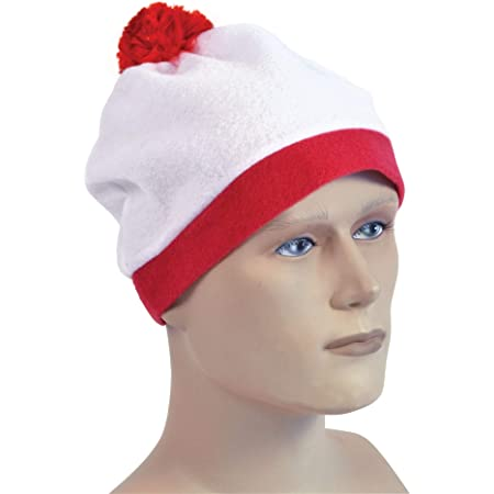 White And Red Bobble Fancy Dress Hat