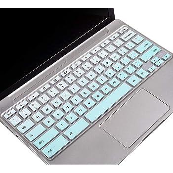 "Keyboard Cover for Samsung Chromebook 3 4 XE500C13 XE501C13 XE310XBA 11.6""/ Chromebook 4 XE350XBA 15.6/11.6"" Chromebook 2 XE500C12/ Chromebook Plus V2 XE520QAB XE521QAB 12.2"" Keyboard Skin, Ombre Mint"
