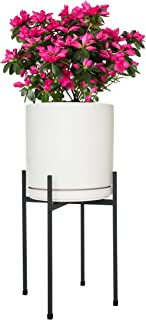 Mid Century Plant Stand Indoor Outdoor Metal Planter Pot Stand Suitable for 8-10 Inch Planter, Metal Modern Decor Plant Pot Stand - Garden Gift and Home Decor- Matte Black (Planter Not Included)
