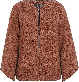 Faux Fur Lambswool Oversized Jacket Coat Winter Black Warm hairly Jacket Women Autumn Ladies Outerwear Female Overcoat
