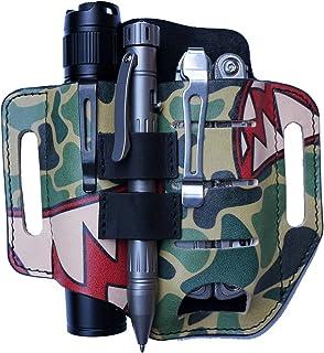 VIPERADE PJ13 Camoshark Knife Sheath for Belt, Tool Leather Sheath for men, EDC Pocket Tool Pouch/Flashlight Holster/Multi...