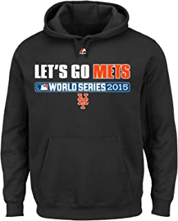 Majestic New York Mets MLB Youth 2015 World Series Let's Go Mets Hooded Sweatshirt (Youth Xlarge 18/20)
