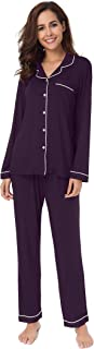 SIORO Soft Womens Pajama Sets, Modal Long Sleeve Pajamas for Women,Sleepwear