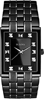Men's 98D111 Bracelet Black Dial Watch