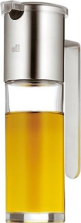 Preisvergleich für WMF Basic Ölspender 120ml, mit Aromadeckel und Rücklauföffnung, Essig und Öldosierer, Glas, Cromargan Edelstahl mattiert, spülmaschinengeeignet