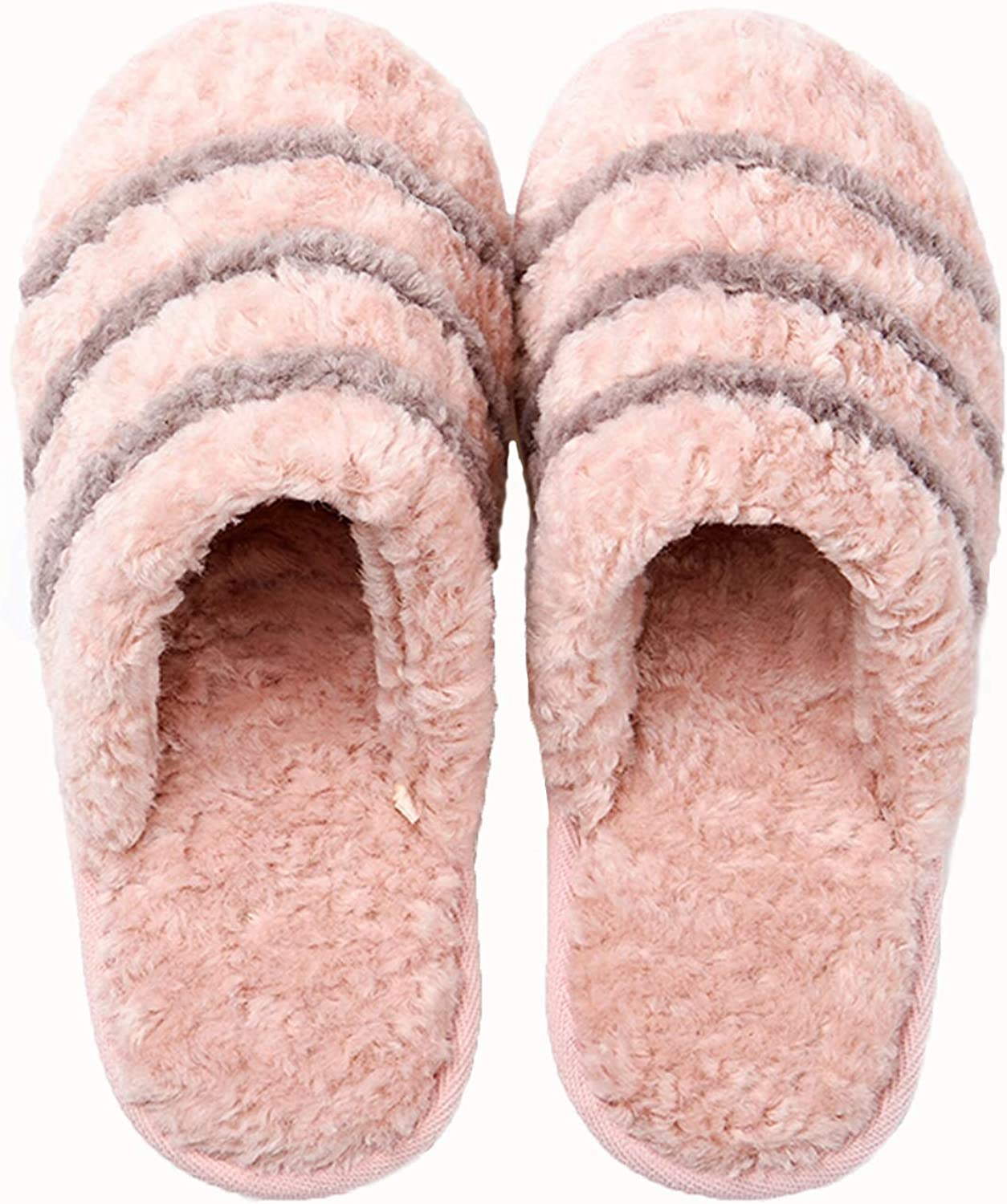 Winter Cotton Slippers for Women,Indoor House Anti-Slip Warm shoes Cute Pink Slippers Ideal for Girls Ladies Home Bedroom Daily Use