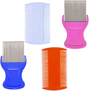 4 Pcs Head Hair Comb Including 2 Pieces Hair Comb Double Sided 2 Pieces Removal Dandruff..