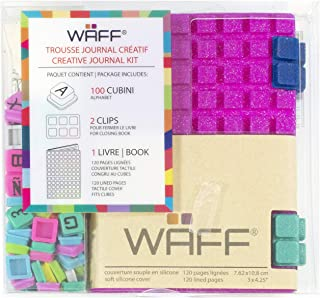8.25 x 5.5 Bag 240 Pegs WAFF Large Customizable Mozaika Notebook // Journal Combo Red