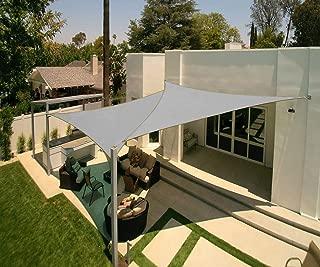 Artpuch 2Pcs 12' x 12' x 12' Triangle Sun Shade Sails Light Grey UV Block for Shelter Canopy Patio Garden Outdoor Facility