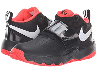 Nike Kids Team Hustle D8 Just Do It (Little Kid) (Black/Reflect Silver/Bright Crimson) Boys Shoes