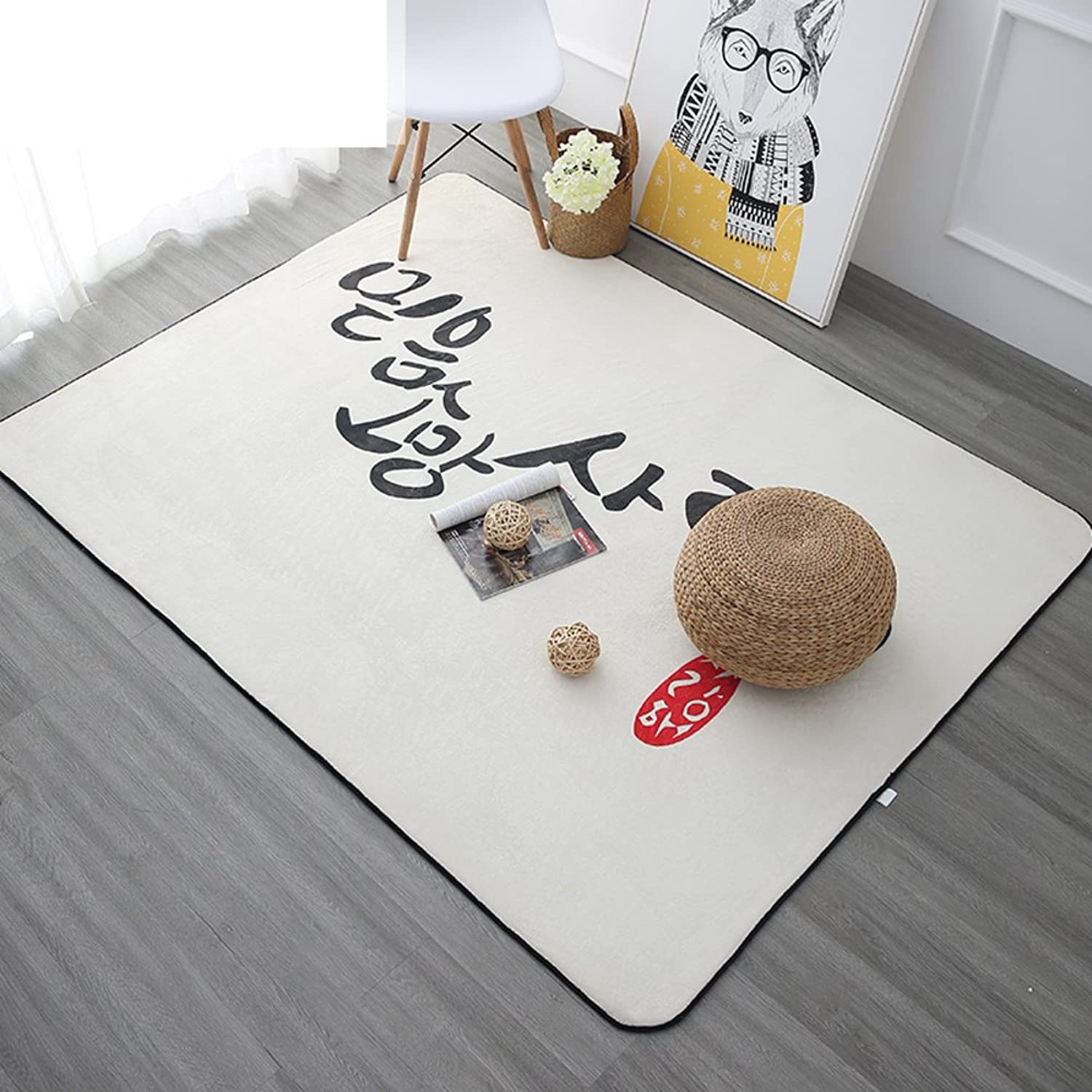 Carpet Nordic Living Room mat European-Style Simple mats Modern Bedroom mat-E 190x240cm(75x94inch)