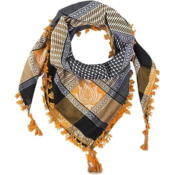"Merewill Cotton Shemagh Tactical Desert Wrap Keffiyeh Head Neck Arab Scarf for Men 49""x49"""
