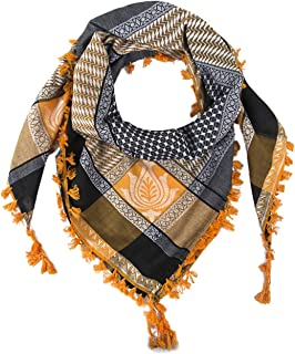 Merewill Cotton Shemagh Tactical Desert Wrap Keffiyeh Head Neck Arab Scarf for Men 49