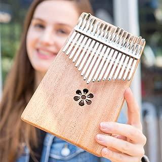 Lexington Kalimba 17 Keys Thumb Piano, Portable Thumb Piano Mbira Sanza Mahogany Body Ore Metal Tines Great Gift