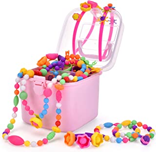 Edycur 550 Pop Beads,Creative DIY Jewelry Making Kit for Toddlers, Necklace Bracelet Rings Art Crafts Toys for 4, 5, 6, 7 ,8,9 Year Old Kids Girls