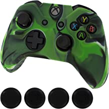 Generic New Silicone Cover Case Skin Controller & Grip Stick caps for Xbox One, Camo Green