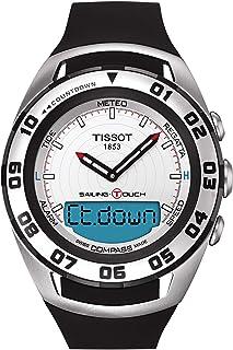 ساعة كاجوال للرجال من تيسوت بمينا بيضاء وسوار مطاطي - 420.27.031.00