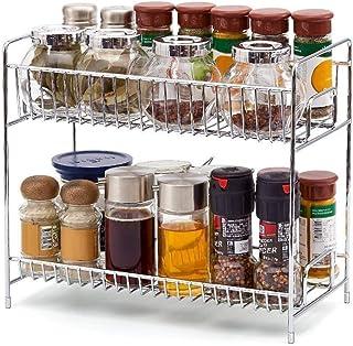 Rangement Cuisine, Cuisine Spice Rack, 2-Tier debout Spice rack Organisateur, boîtes détachables bouteilles Organisateur P...