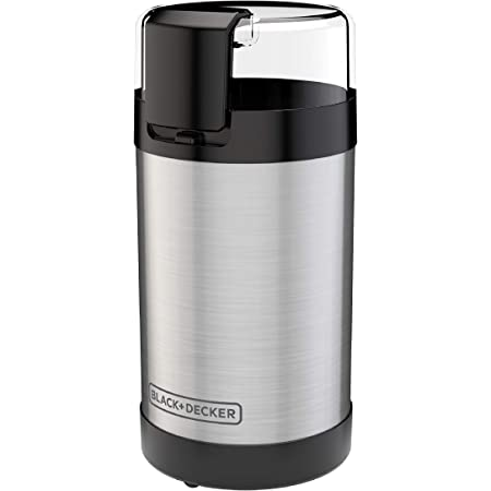 BLACK+DECKER , 2/3 Cup Coffee Bean Capacity, Stainless Steel
