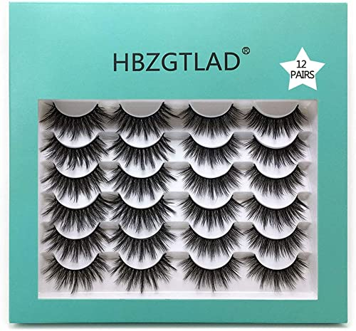 popular NEW12 lowest Pairs NEW sale 12 Pairs 25mm 3D Mink False Eyelashes Criss-cross Fluffy Dramatic Volume Lashes Extension Silk lashes (1203) online