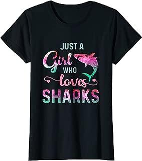 Just A Girl Who Loves Sharks Shark Lover T-Shirt