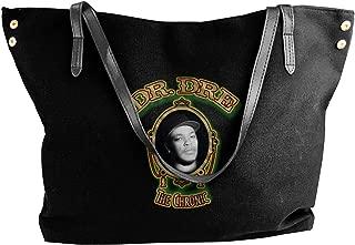 Dr Dre The Chronic Women's Canvas Shoulder Bag Messenger Bag Shopping Tote Black