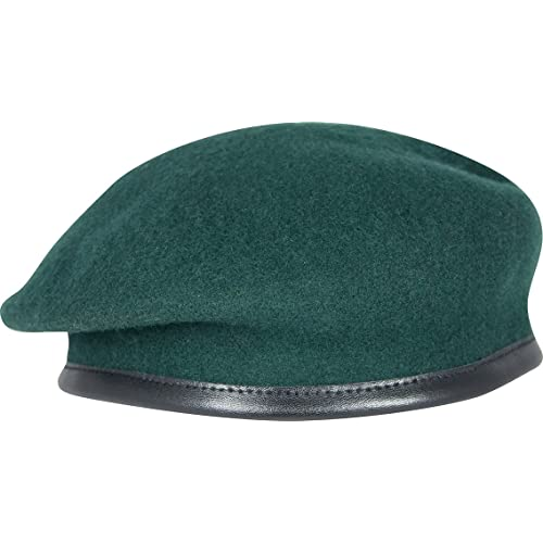 914a58e590f2 Military Army Berets - 100% Wool Silk Linked Leather Bow by Ammo & CO -