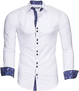 comprar comparacion Kayhan Hombre Camisa Manga Larga Slim Fit S - 6XL Modello Royal