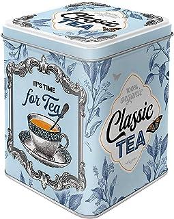 teedose retro Nostalgic-Art 31302 Retro Teedose Classic Tea – Geschenk-Idee für Nostalgie-Fans, Aufbewahrung für losen Tee und Teebeutel, Vintage Design