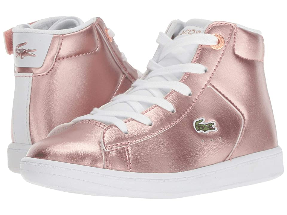 Lacoste Kids Carnaby Evo Mid 318 (Toddler/Little Kid) (Pink/White) Girl
