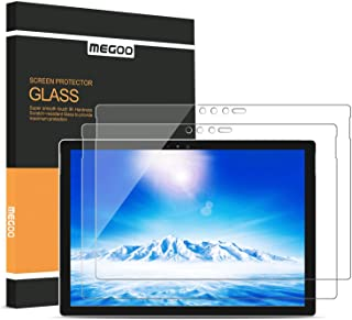 [2-Pack] MEGOO Surface Pro 6 Screen Protector, Friendly Touching/Easy Installation/High Sensitivity/HD Clear Tempered Glass, Compatible for Microsoft New Surface Pro 6 Pro 5/4 12.3 Inch