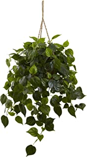 Nearly Natural 6853 3ft. Philodendron Hanging Basket UV Resistant (Indoor/Outdoor)