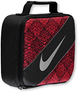 Nike Large Insulated Lunchbox – black/university red, one size