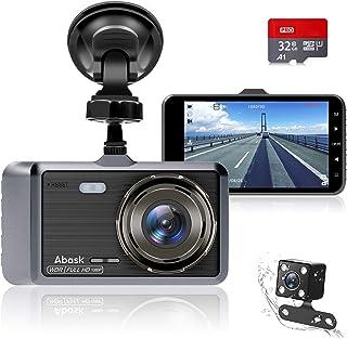 Caméra de Voiture, Abask Dashcam 4 Pouces Full HD 1080P Grand Angle 170° Vision..