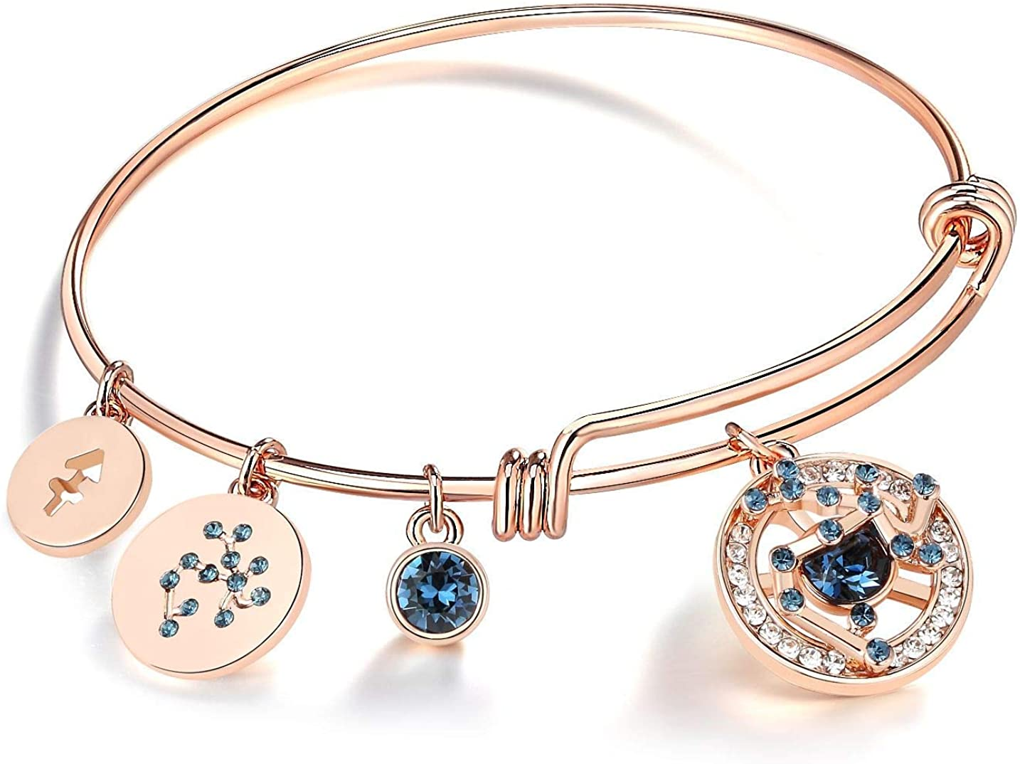 Leafael Superstar Zodiac Ranking TOP13 Expandable Bangle Jacksonville Mall Made Pr with Bracelet
